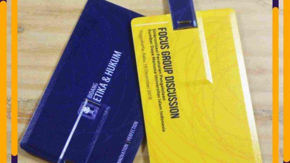 Jual Souvenir Flashdisk Kartu Print 2 Sisi Desain Custom 8GB